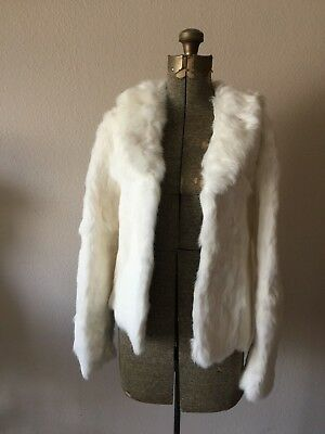 More Dash Than Cash White Fur Jacket Size Small Costume - Fur Vest Halloween Costume