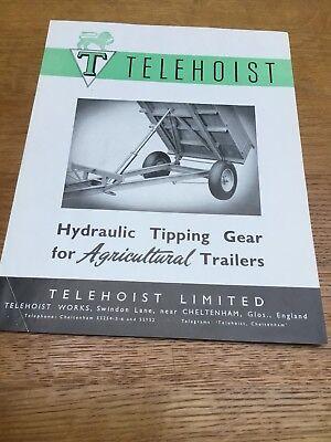 "Telehoist ""Tipping Gear"" - Original 1950's Sales Brochure - Very Rare Item."