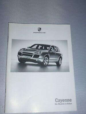 originales Porsche Buch / Broschüre  Cayenne (Die Modelle in Daten)