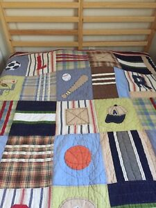 Pottery Barn Sports Quilt Blanket full double queen