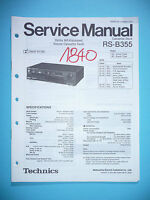 Service Manual For Technics Rs-b355 Tape Deck, Original -  - ebay.co.uk