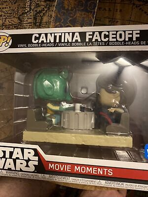 Funko POP Star Wars Movie Moments Cantina Faceoff 223 Han Solo Greedo Exclusive