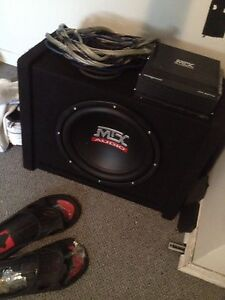 mtx car audio amp/wires/sub/box barely used CALL ONLY
