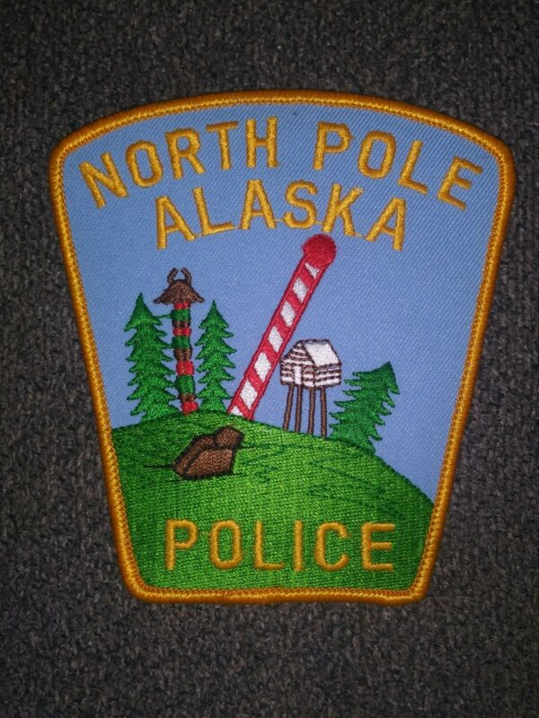 North Pole AK Alaska Police patch - NEW! Santa Claus / Christmas