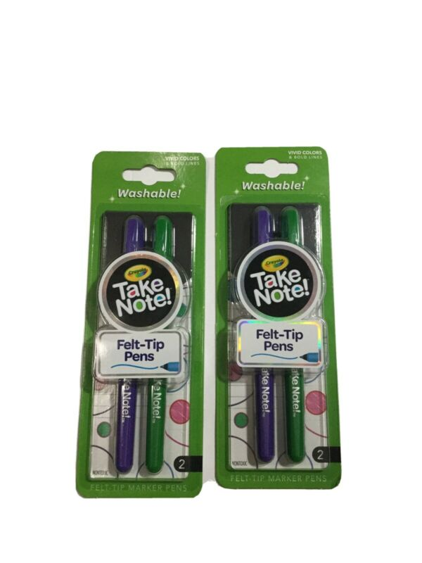 Crayola Take Note Felt Tip Pens, Washable