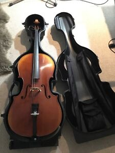 Yamaha VC7G Cello with Fishman Pickup and SKB Hardshell Case