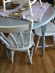 Light blue grey dining table table only- chairs separate