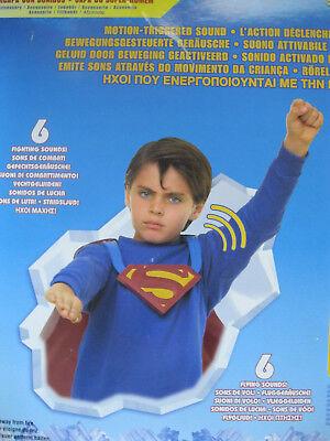 Superman Fight N Fly FX Umhang DC Kostüm Cosplay 12 sounds 2 speakers 2006 Neu.