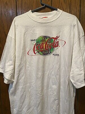 MEN'S VTG WORLD OF COCA-COLA ATLANTA T-SHIRT XL EUC