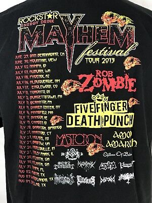 Zombie Punch (Rockstar Mayhem Festival 2013 T Shirt Rob Zombie Five Finger Death Punch Mens)