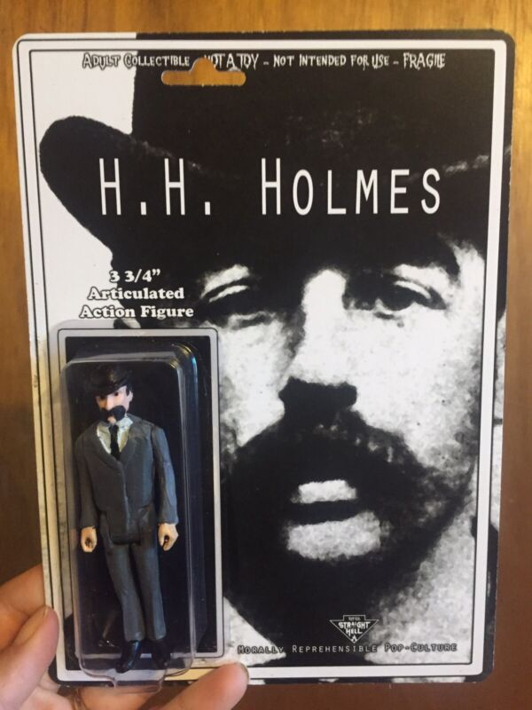 H. H. HOLMES, JACK THE RIPPER Action Figure Custom Toy True Crime Serial Cult