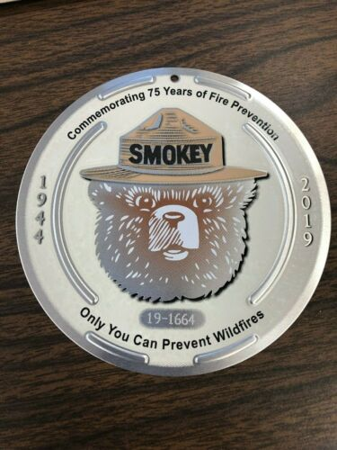 Smokey Bear 75th Birthday Limited Edition Trail Marker - Only 2,000 Made