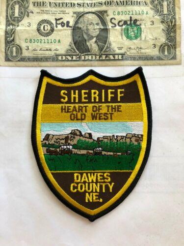 Dawes County Nebraska Police Patch ( Sheriff ) Un-sewn in great shape