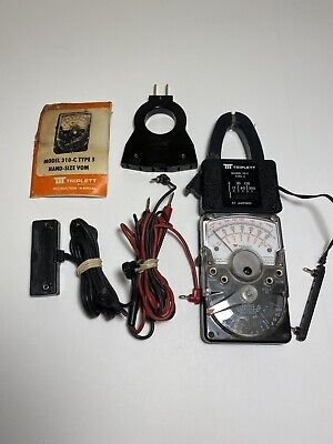 Triplett Model 310c Type 5 Analog Voltmeter W Lots Of Accessories And Case