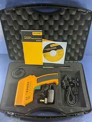 Fluke 574 Infrared Ir Thermometer Excellent Hard Case