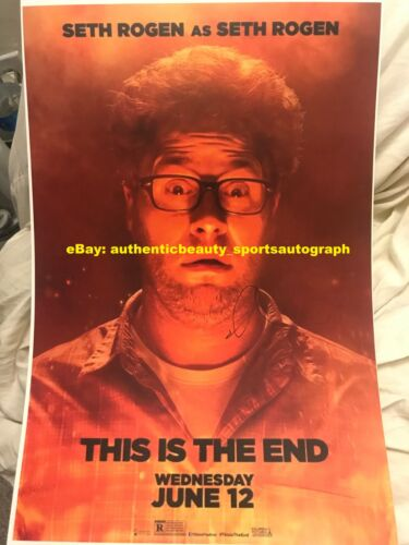 THIS IS THE END 2013 SETH ROGEN COMEDY SIGNED MOVIE POSTER 12x18 REPRINT RP