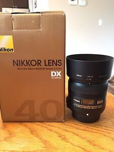 Nikon 40mm macro and 55-300 for sale.