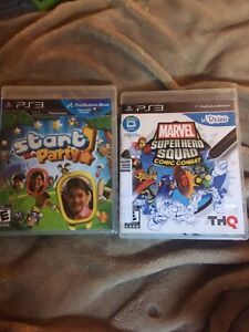 Ps3 Start party & Marvels Super Hero Squad new never opened