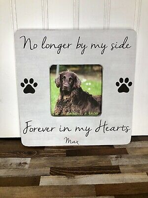 Forever Picture Frame - Dog Memorial Gift Picture Frame, Pet Memorial, No Longer By My Side Forever In