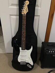 Fender Stratocaster SSS Black with Line 6 15w GTR Spider IV amp New Beith Logan Area Preview