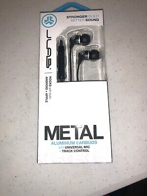 JLab Metal In-Ear Headphones -Black-Excellent