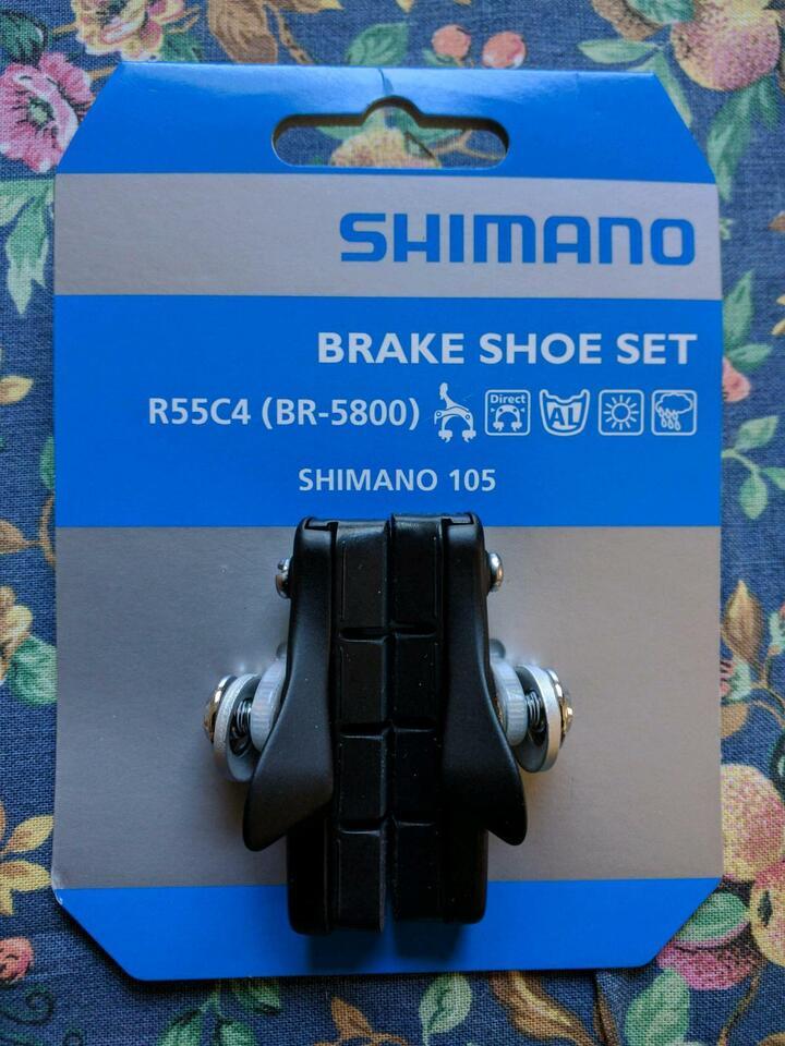Unben. Shimano 105 Rennrad Bremsbeläge R55C4 m. Cartridge BR-5800 in Nordhorn