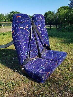 Camper Bus Coach Minibus Van Twin Double Seat With Belt - Vintage Old school