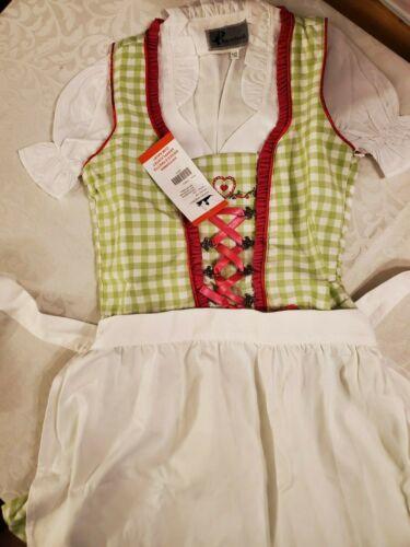 Girls,Kids,US sz 12,Germany,German,Trachten,Oktoberfest,Dirndl Dress,3-pc.Greens
