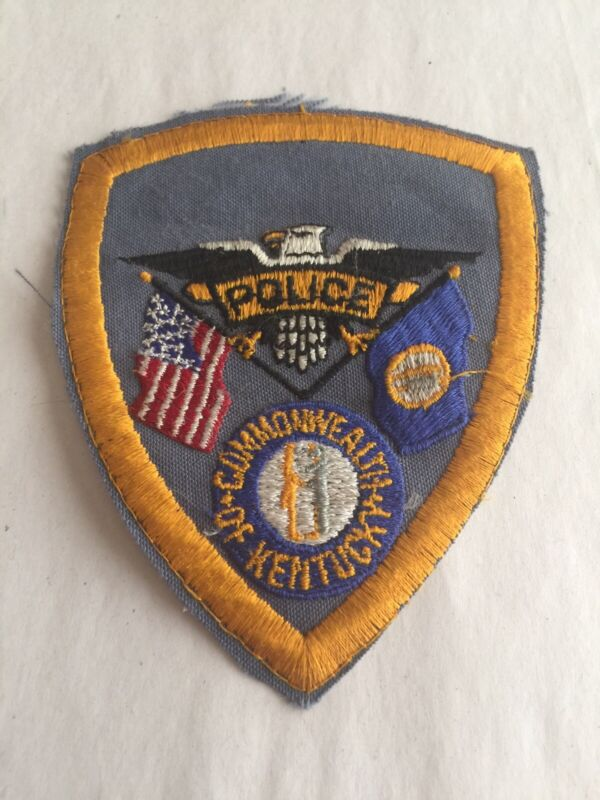 VINTAGE COMMONWEALTH Of KENTUCKY POLICE PATCH (PLASTIC BACK) NICE!!!