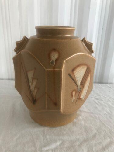 Antique vintage Art Deco pottery vase ca 1930