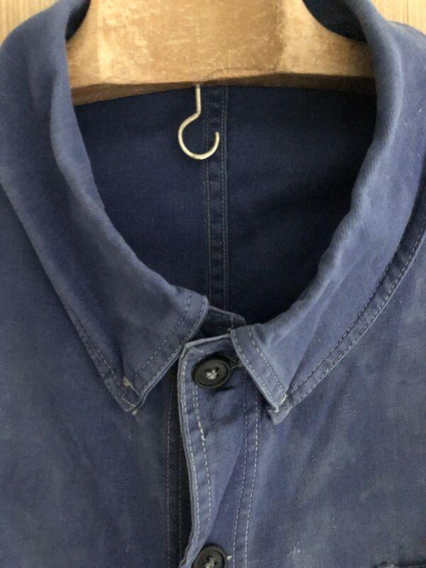 Vintage French BLEU DE TRAVAIL jacket WORK WEAR  faded INDIGO BLUE c1930