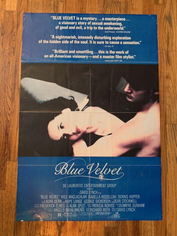 Original Blue Velvet By David Lynch Poster