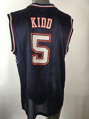 Reebok NBA Authentic New Jersey Nets #5 Jason Kidd NBA Jersey Size Large NWT