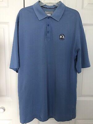Cutter & Buck Men's Pebble Beach DryTec Championship Polo Shirt Sea Blue X-Large Blue Drytec Championship Polo