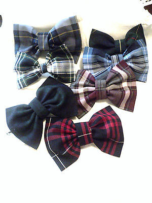 Lands End Girls Bow - Twinkle Bows and Toes School uniform Hair Bow matches LANDS' END school uniform