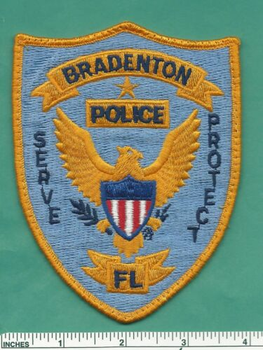 Old Bradenton Florida State of FL Fla Police Shoulder Patch - Manatee County
