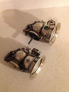 Rare Early Antique Revenge Carbide Bicycle Lamps