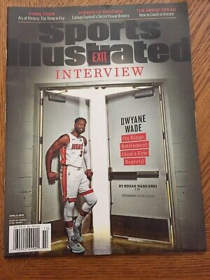 Sports Illustrated April 2019 Dwyane Wade Miami Heat - Exit Interview- & Giannis