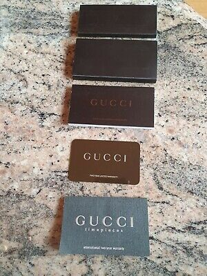 Gucci Vintage Watch Booklets Card Genuine Job Lot