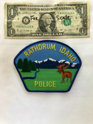 Rathdrum Idaho Police Patch Un-sewn in great shape