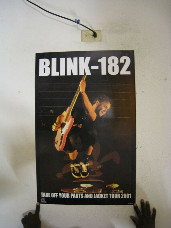Blink-182 Poster Take Off Your Pants And Jacket Tour 2001 Blink 182 Blink182