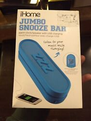 ihome jumbo snooze bar alarm clock