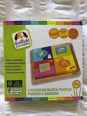Boikido Eco-Friendly 4 Seasons Block Puzzle Kids 24 Months and Up