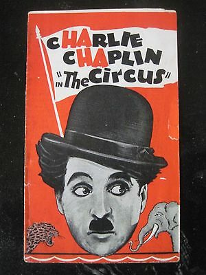 ORIGINAL MOVIE HERALD FOR CHARLIE CHAPLIN'S THE CIRCUS - 1928