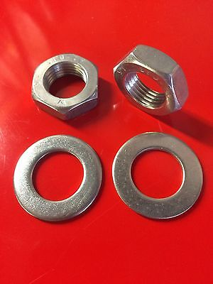 Lambretta Rear Shock Nuts and Washers Stainless All Series 3 LI SX TV GP