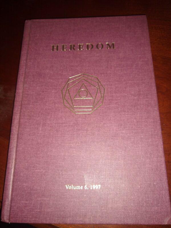 HEREDOM Scottish Rite Research Society Volume 6, 1997 FREEMASONRY BOOK
