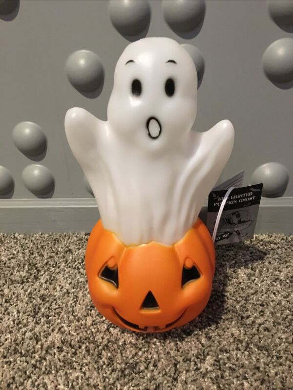 Ghost Pumpkin Light Up Halloween Blow Mold LED light Spooky Holiday Decor