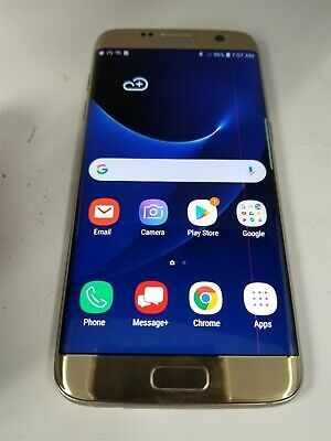Samsung Galaxy S7 Edge 32GB Gold SM-G935V Verizon Android Smartphone BW5772