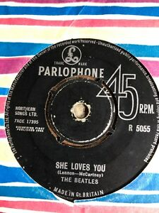 "The Beatles – She Loves You - I'll Get You 7"" Single Record Vinyl 1963"