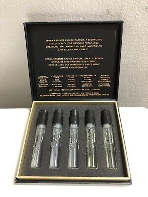 Ermenegildo Zegna Essenze Eau De Parfum 5 Piece Set .05 Oz/ 1.5 ml Each